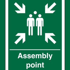 Fire Assembly Point Sign 400X300mm