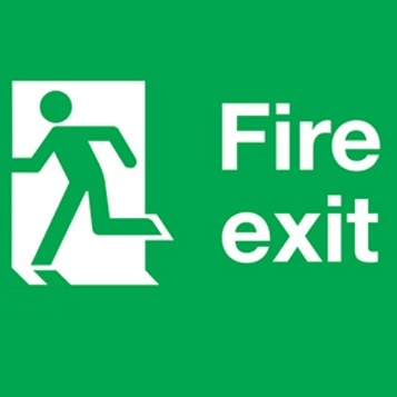 Fire Exit 300x100mm