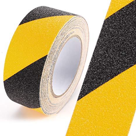 Black Yellow Safety Non Skid Tape Anti Slip Tape Sticker Grip Safe Grit
