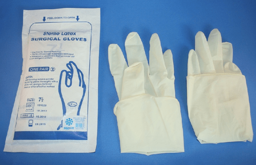 SURGICAL HAND GLOVES—7.5 (PACK OF 50 PAIRS